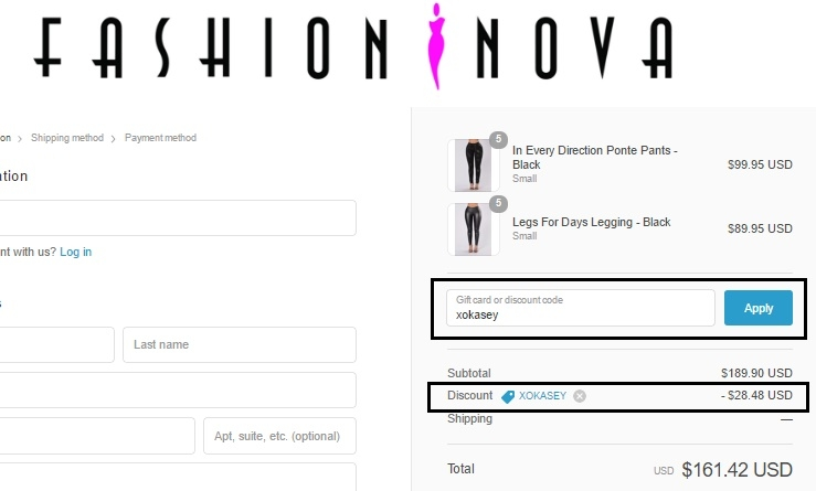 Fashion Nova Coupons