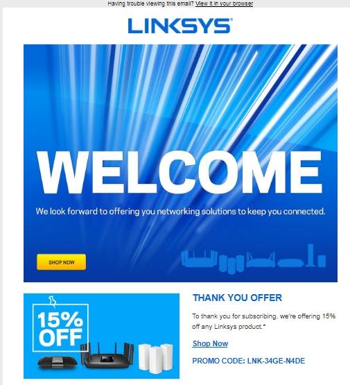 Linksys coupon code