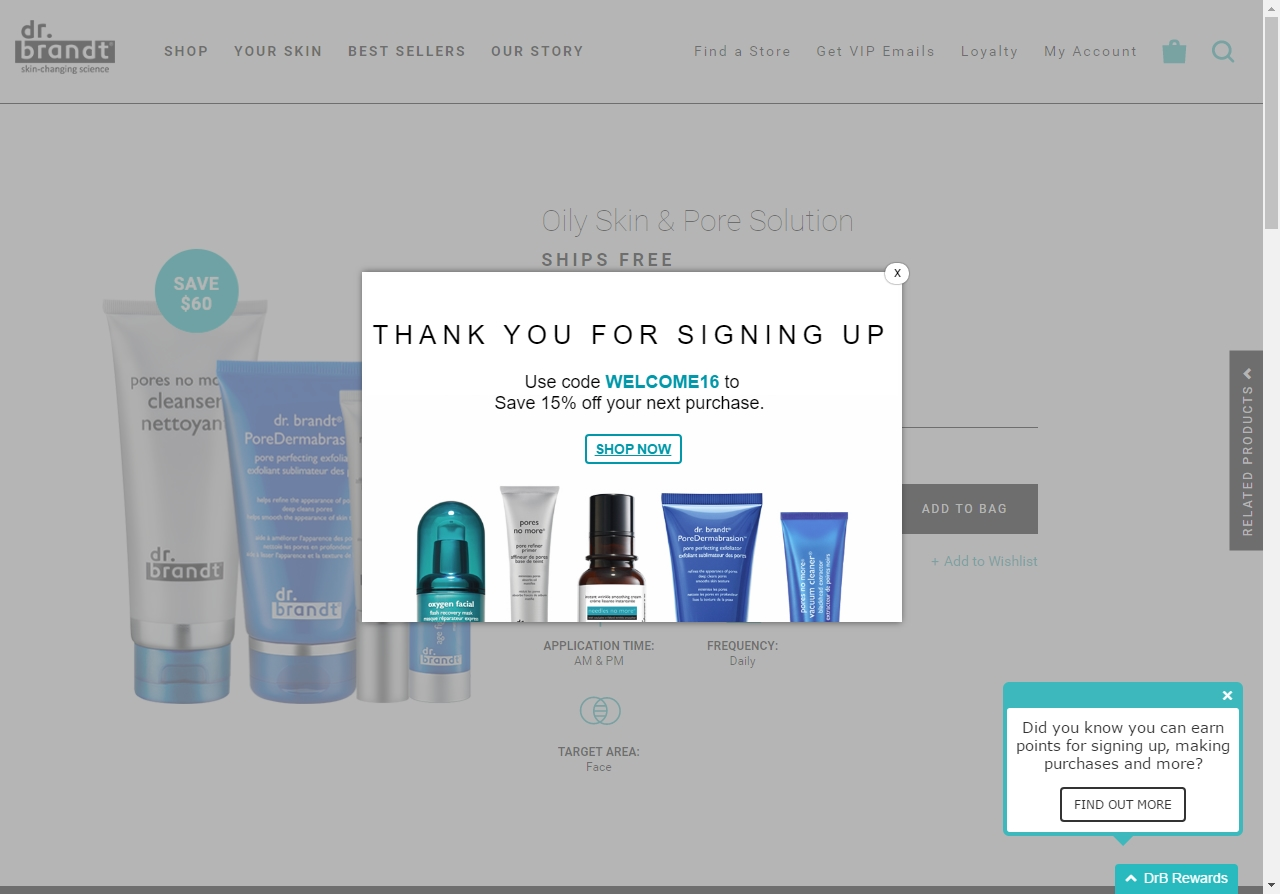 Dr. Brandt Skincare offers promo codes often. On average, Dr. Brandt Skincare offers 56 codes or coupons per month. Check this page often, or follow Dr. Brandt Skincare (hit the follow button up top) to keep updated on their latest discount codes. Check for Dr. Brandt Skincare's promo code exclusions. Dr.5/5(3).