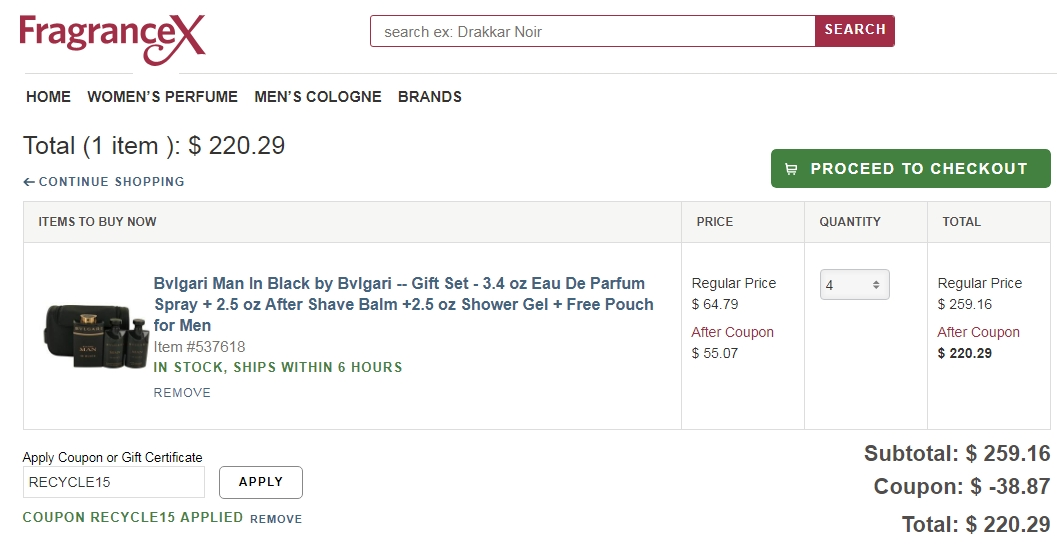 Fragrancex coupon code