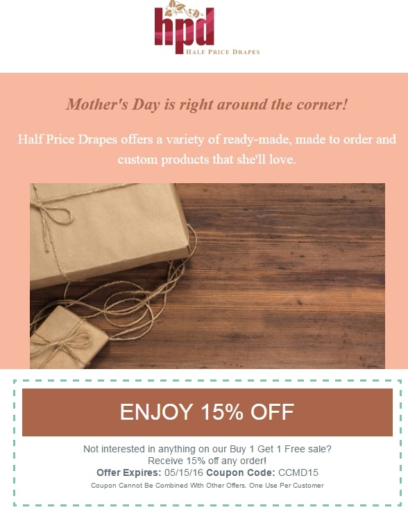 Half price drapes coupon code