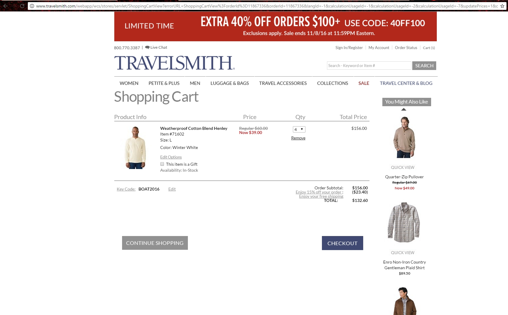 Travelsmith coupon codes