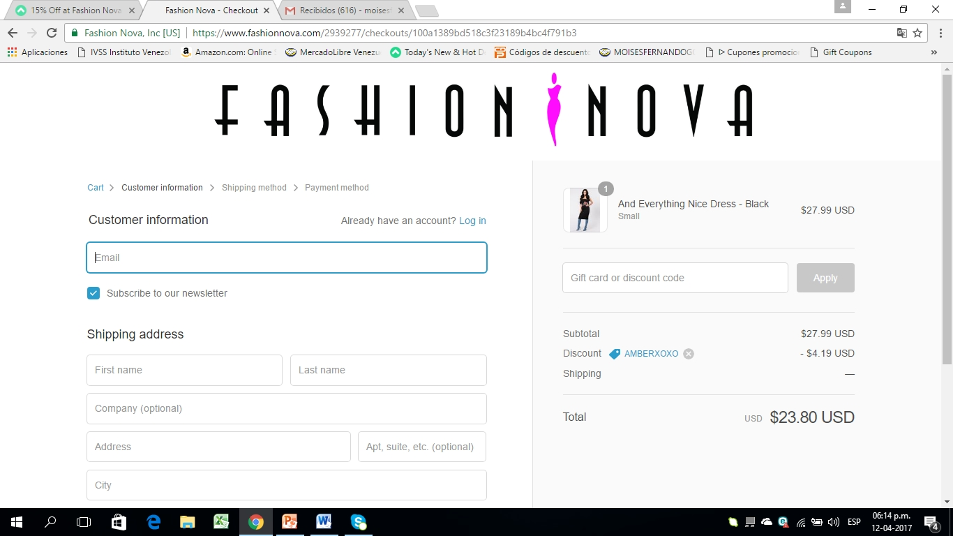 Profile fashion coupon code