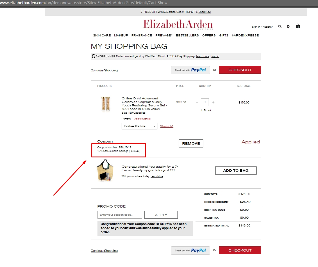 Elizabeth arden coupon and discount codes