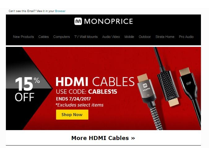 Monoprice free shipping coupon code 2018