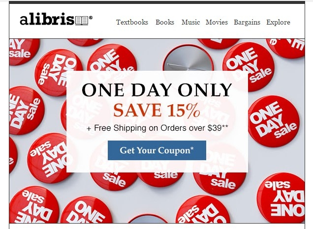 Alibris discount coupon