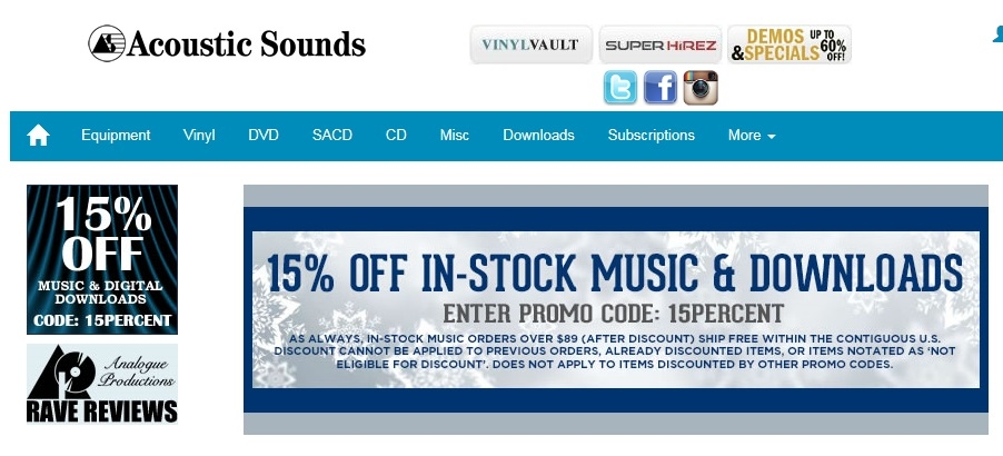 Acoustic sounds coupon code 2018
