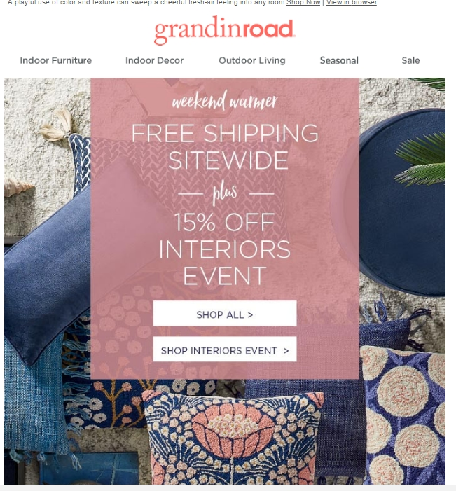 grandin road free shipping coupons