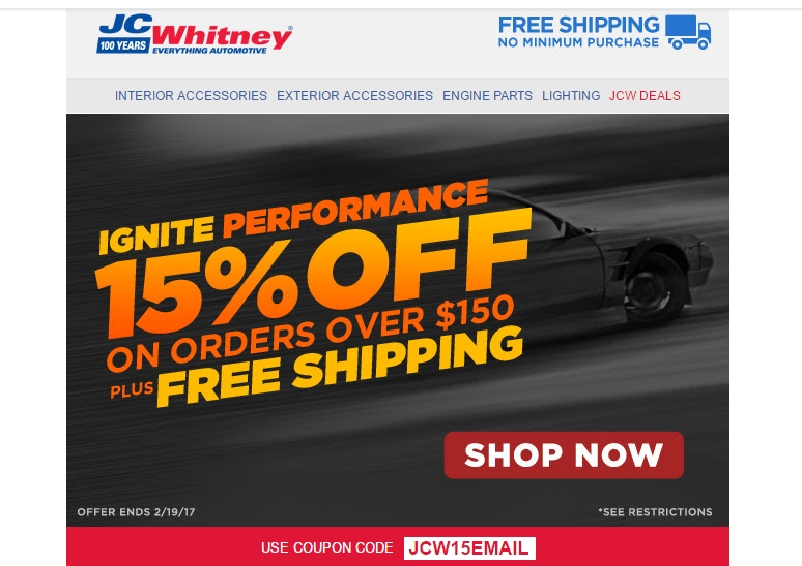 Jc whitney coupon code