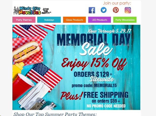 If yes, then you can easily purchase all essential part-related supplies from Windy Never Pay Full Price · Site Wide Coupon · Highlights · No Minimum Order Coupon.