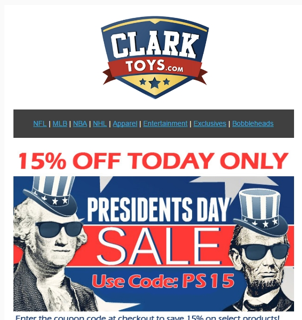 Apply the Clark Toys Coupon at check out to get the discount immediately. Don't forget to try all the Clark Toys Coupons to get the biggest discount. To give the most up-to-date Clark Toys Coupons, our dedicated editors put great effort to update the discount codes .