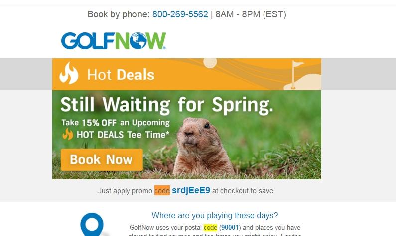 Golfnow com coupon code