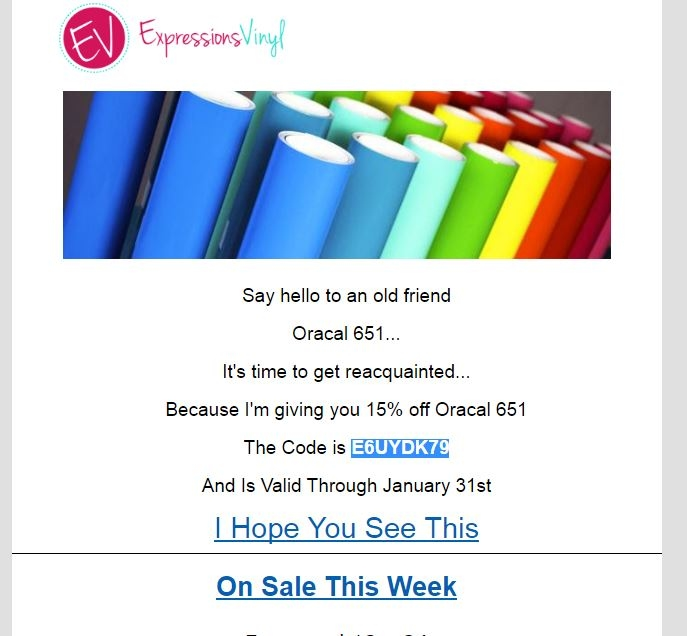 Expressions vinyl coupon code