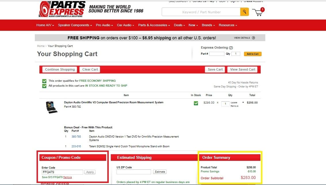 Parts express coupon code
