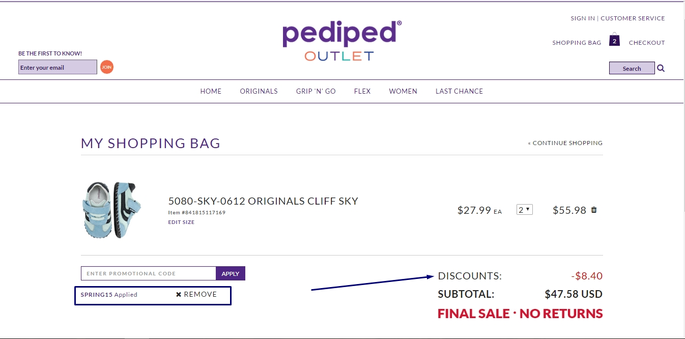Pediped coupon code