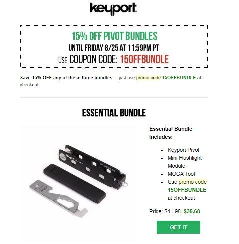 Keyport Pivot Key Organizer - Smart Key Holder & Modular EDC Keychain Multitool - 2,,+ followers on Twitter.