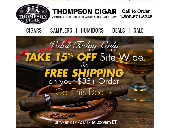 Thompson cigar coupon code