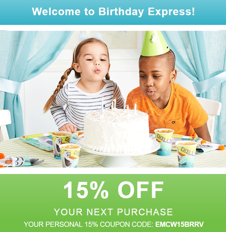 birthday express coupon codes 15 off