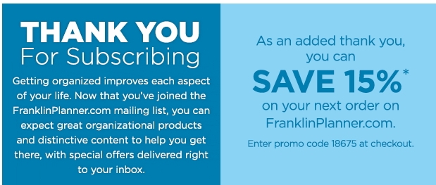 Franklin covey discount coupons