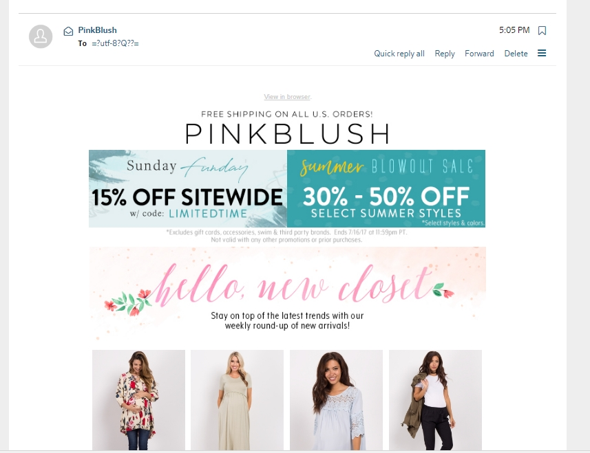 Pink blush maternity coupon code