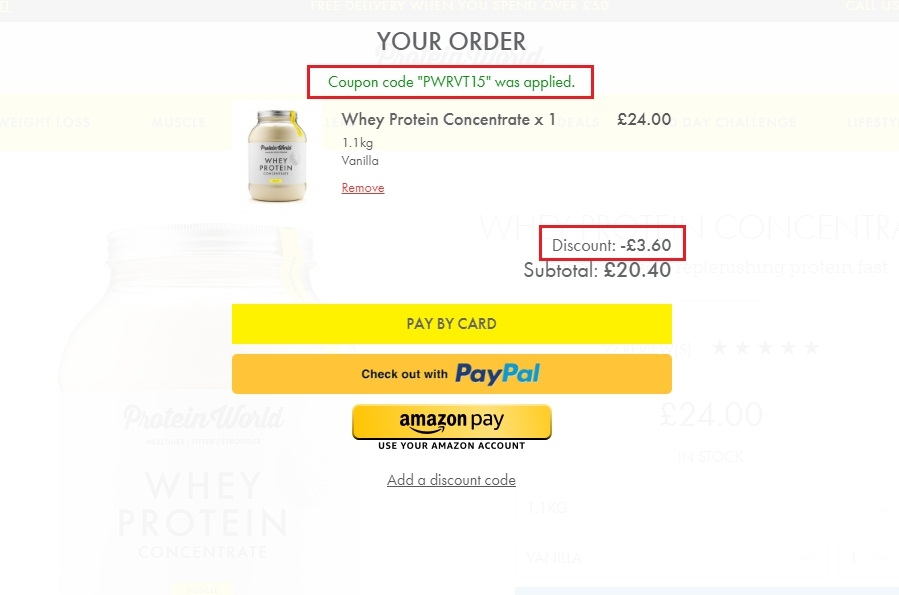 Protein world coupon code canada