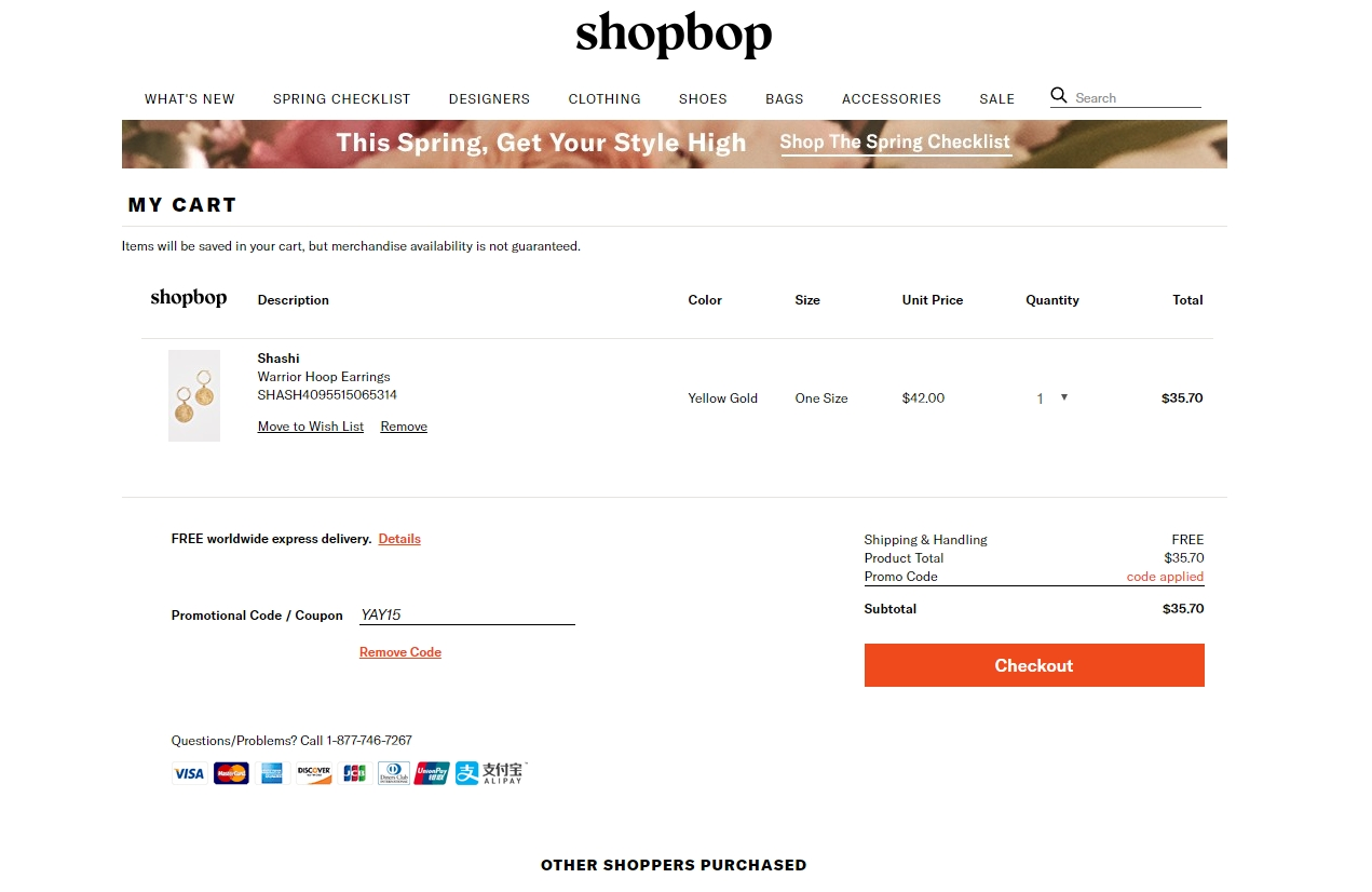Shop bop coupon code