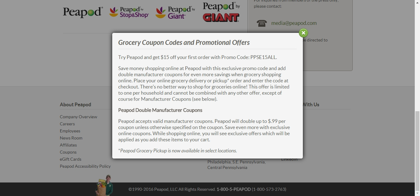 Promo Codes Top 2017 Peapod Existing Customer 2018 Up To 20 Off