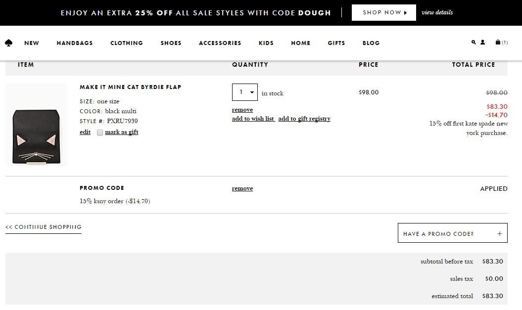 Katespade coupon code