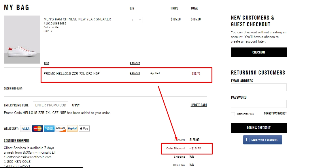 Kenneth cole coupon code