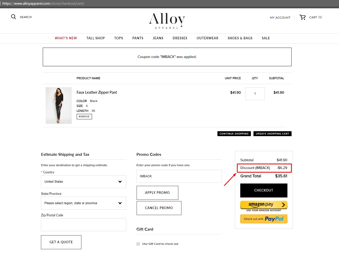 Alloy coupons 50 off