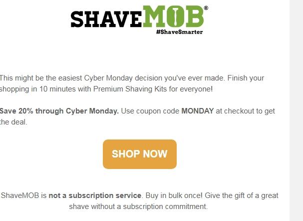 Shavemob coupon code