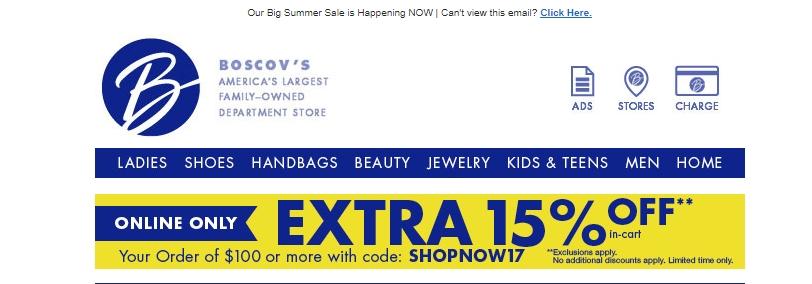 20 boscovs coupon code