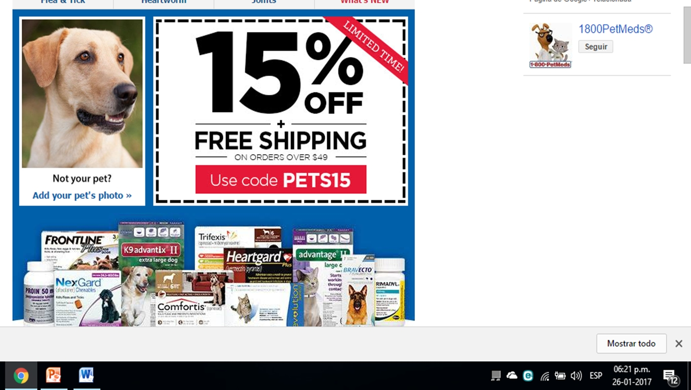 Coupon code for 1800petmeds