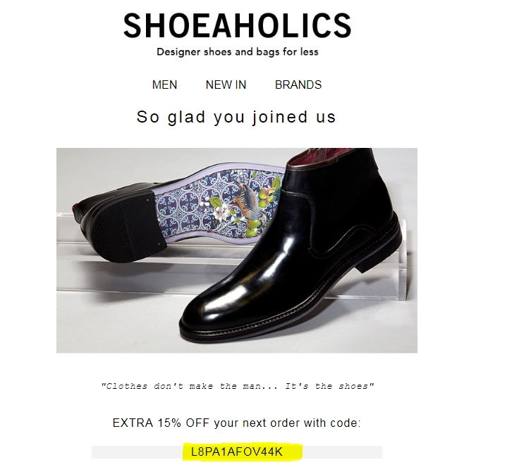 We have 10 Shoeaholics UK promo codes for you to choose from including 2 coupon codes, 7 sales, and 1 free shipping promo code. Most popular now: Save up to 40% off UGG Australia Styles. Latest offer: UP TO 40% Off UGG BOOTS, Slippers & More.
