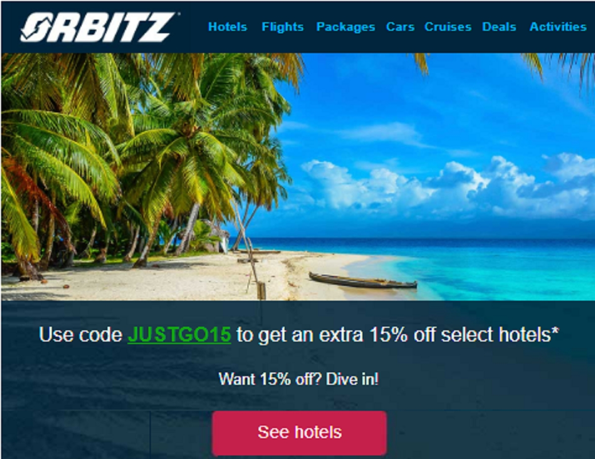 Orbitz travel packages coupon