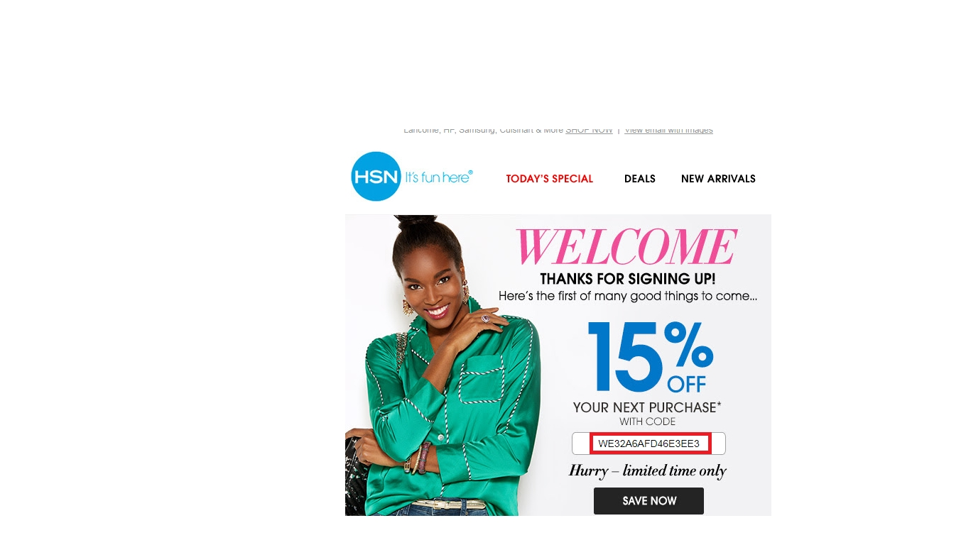 Hsn coupon code 15 off