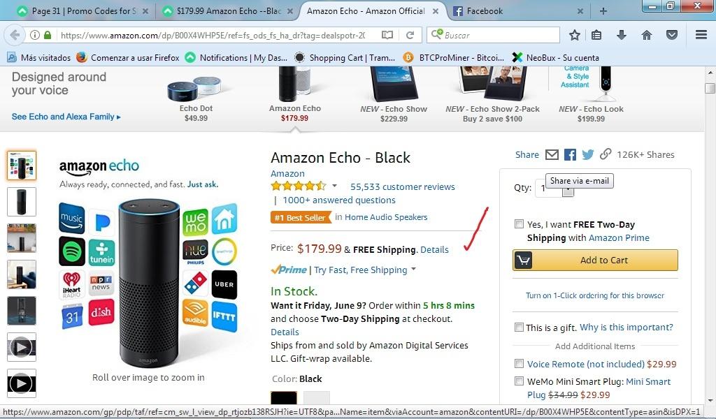 amazon echo discount code