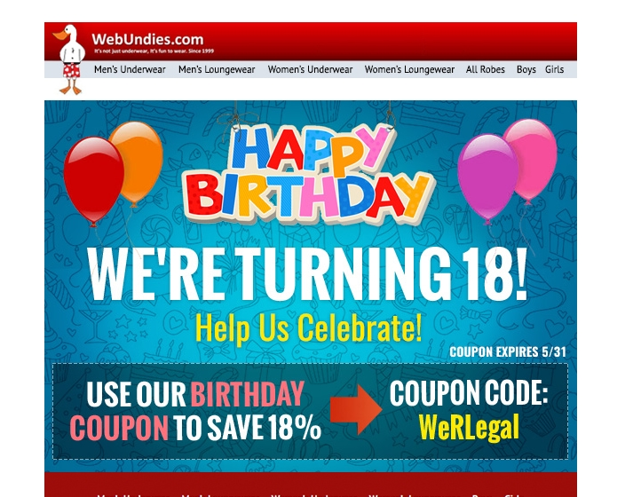 Webundies coupon code