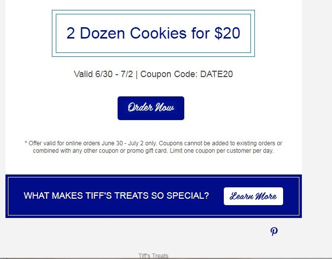 Tiffs treats coupon code