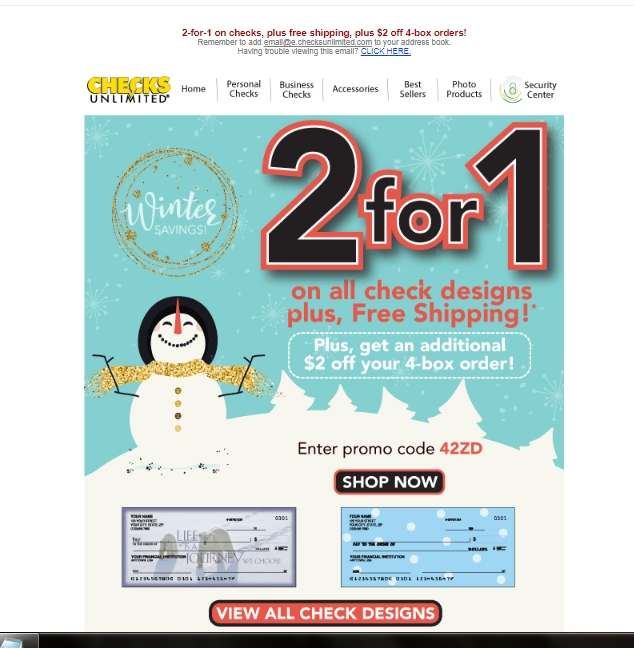 Checks unlimited business coupon code