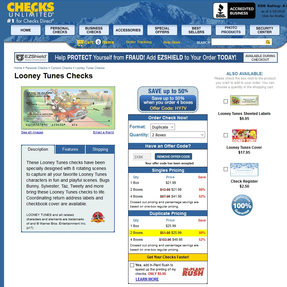 Checks In The Mail Coupons, Sales & Promo Codes. For Checks In The Mail coupon codes and deals, just follow this link to the website to browse their current offerings.