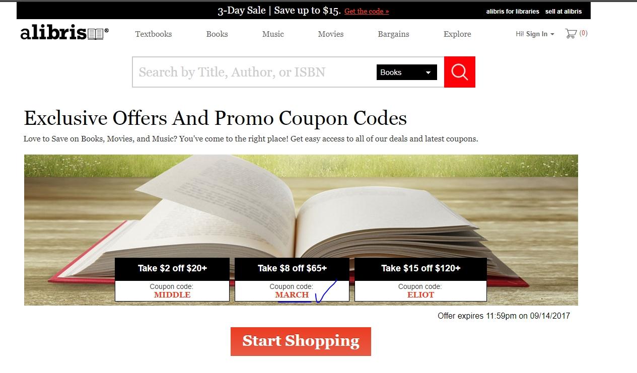 Alibris coupon code 2018