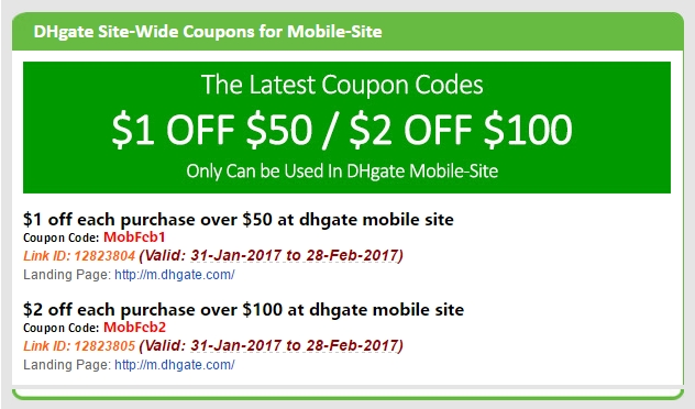 Dhgate coupon codes 2018