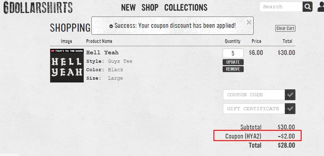 6 dollar shirts coupon code