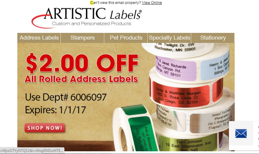 30% Off Artistic Labels Coupon Code | Save $20 in Jan w/ Promo Code