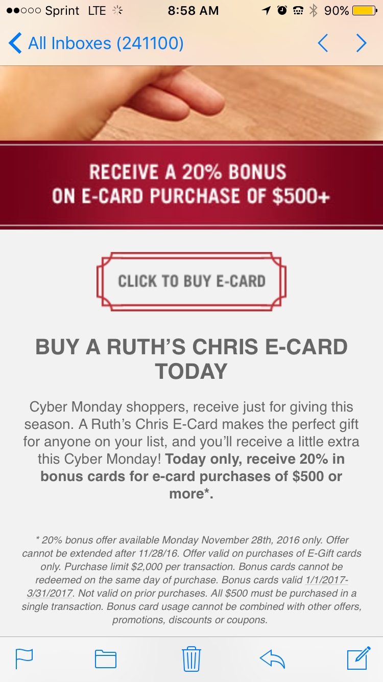 Coupons for ruth's chris restaurant
