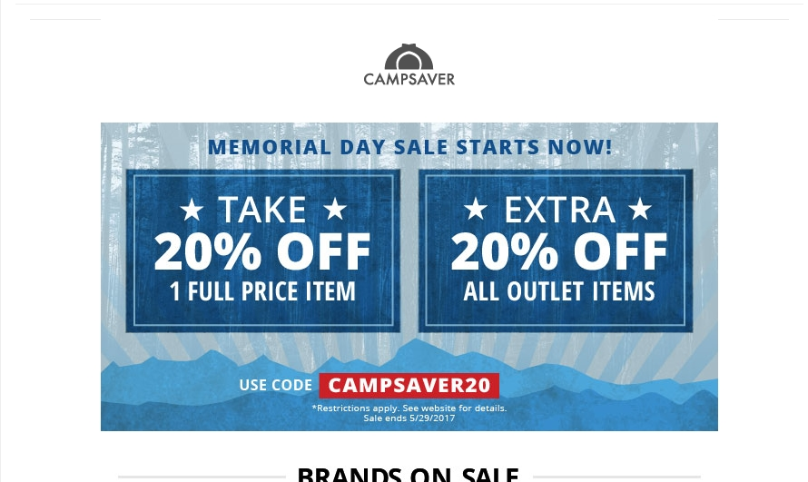 Campsaver coupon code