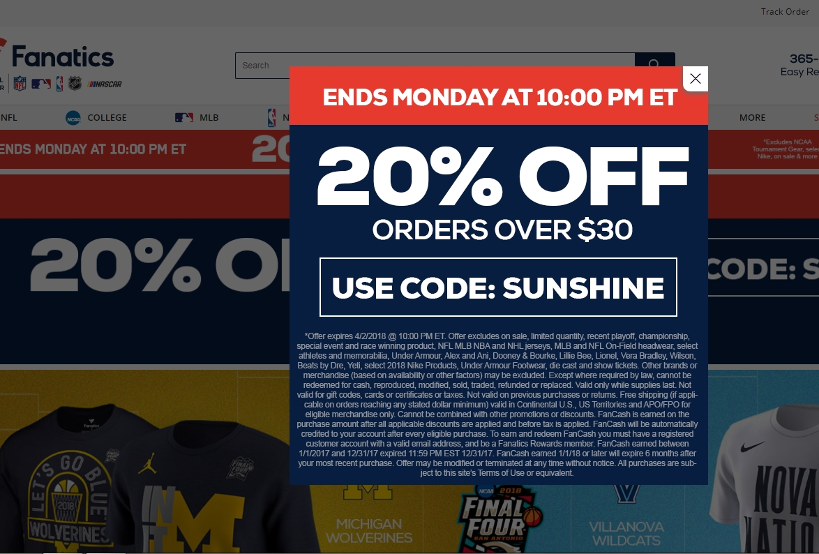 Fanatic coupon code