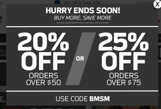 Nflshop.com coupon code