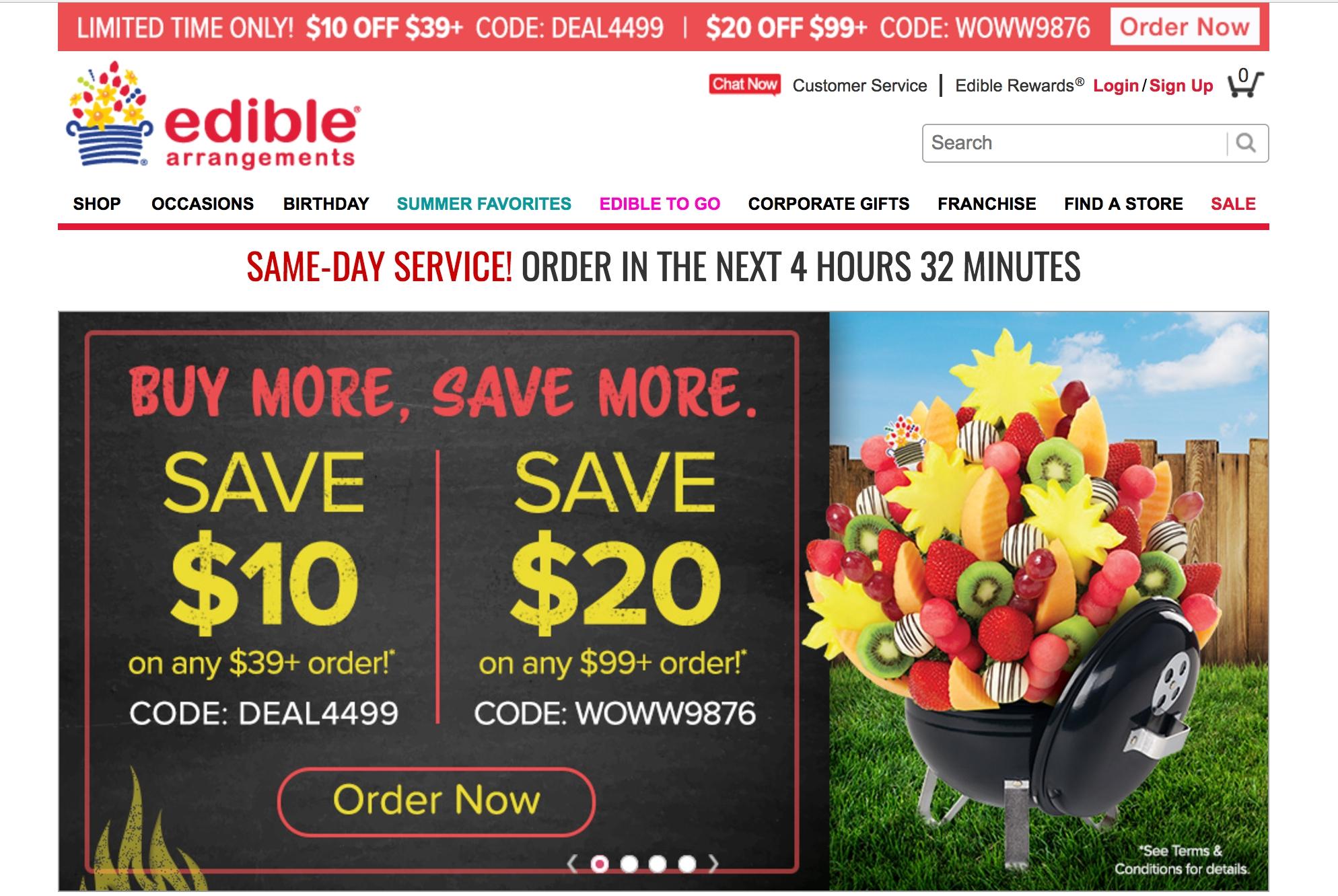 Edible arrangements coupon code 20 off